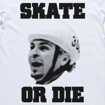 The Underdogs: Skate Or Die Tee (White)