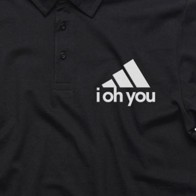 """All Day I Dream About Sex"" Black Collared Polo"