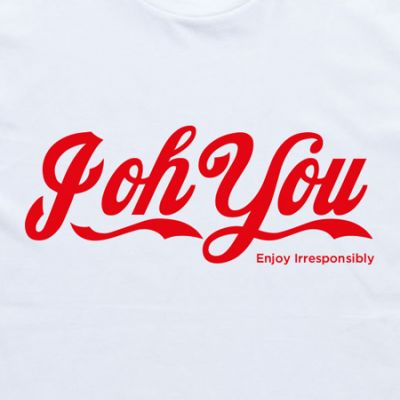 Enjoy Irresponsibly White Tee